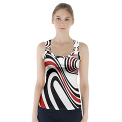Curving, White Background Racer Back Sports Top