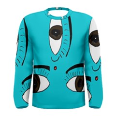 Eyes Three Blue Men s Long Sleeve Tee