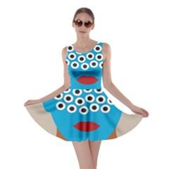 Face Eye Human Skater Dress