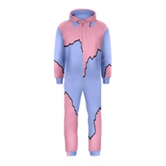 Girls Pink Hooded Jumpsuit (Kids)