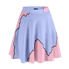 Girls Pink High Waist Skirt