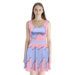 Girls Pink Split Back Mini Dress