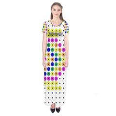 Fish Cute Short Sleeve Maxi Dress