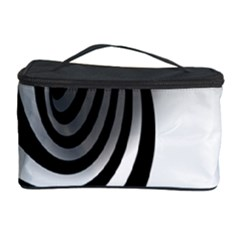 Hole Black White Cosmetic Storage Case