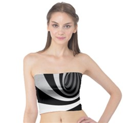 Hole Black White Tube Top
