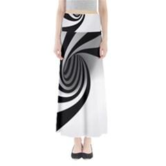 Hole Black White Maxi Skirts