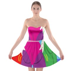 Initial Thumbnails Strapless Bra Top Dress