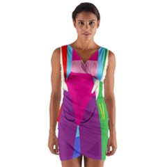 Initial Thumbnails Wrap Front Bodycon Dress