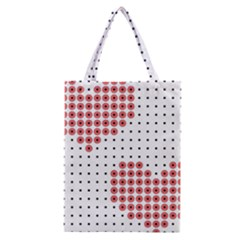 Heart Love Valentine Day Pink Classic Tote Bag