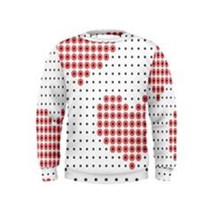 Heart Love Valentine Day Pink Kids  Sweatshirt