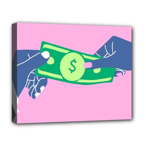 Money Deluxe Canvas 20  x 16