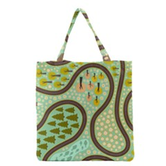 Hilly Roads Grocery Tote Bag