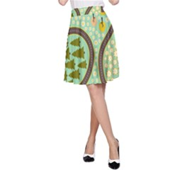 Hilly Roads A-Line Skirt