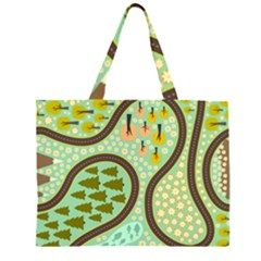 Hilly Roads Large Tote Bag