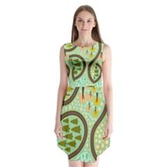 Hilly Roads Sleeveless Chiffon Dress