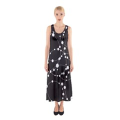 Network Sleeveless Maxi Dress