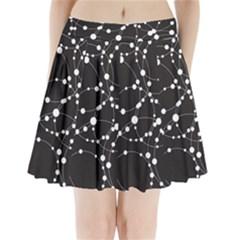 Network Pleated Mini Skirt