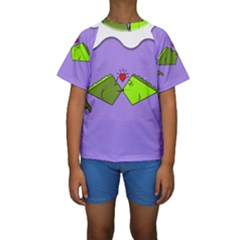 Kissing Fish Kids  Short Sleeve Swimwear