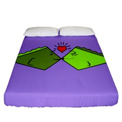Kissing Fish Fitted Sheet (queen Size)