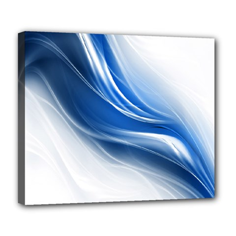 Light Waves Blue Deluxe Canvas 24  x 20