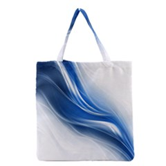 Light Waves Blue Grocery Tote Bag