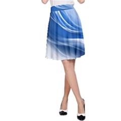 Light Waves Blue A-Line Skirt