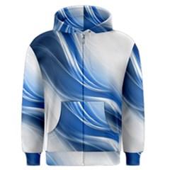 Light Waves Blue Men s Zipper Hoodie
