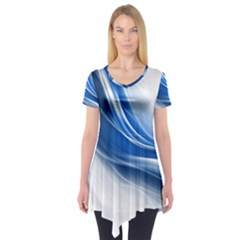 Light Waves Blue Short Sleeve Tunic
