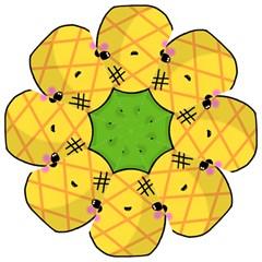 Kawaii Pineapple Hook Handle Umbrellas (medium)