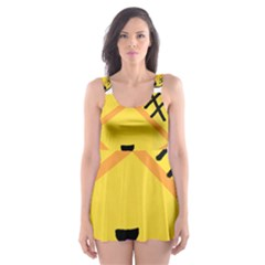 Kawaii Pineapple Skater Dress Swimsuit
