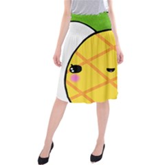 Kawaii Pineapple Midi Beach Skirt