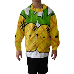 Kawaii Pineapple Hooded Wind Breaker (Kids)