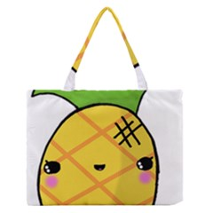 Kawaii Pineapple Medium Zipper Tote Bag