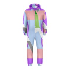 Noninsexual Aromantic Combo Flag Hooded Jumpsuit (Kids)