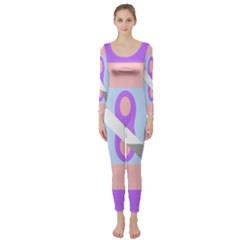 Noninsexual Aromantic Combo Flag Long Sleeve Catsuit