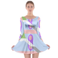 Noninsexual Aromantic Combo Flag Long Sleeve Skater Dress
