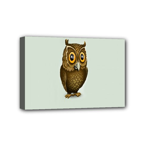 Owl Mini Canvas 6  x 4
