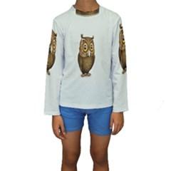 Owl Kids  Long Sleeve Swimwear
