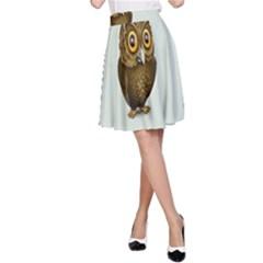 Owl A-Line Skirt