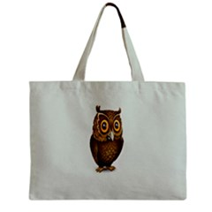 Owl Zipper Mini Tote Bag