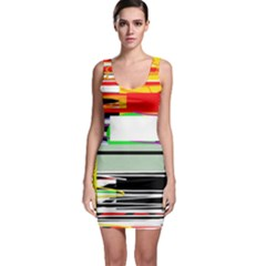 Lines And Squares  Sleeveless Bodycon Dress