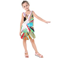 Colorful Big Bang Kids  Sleeveless Dress