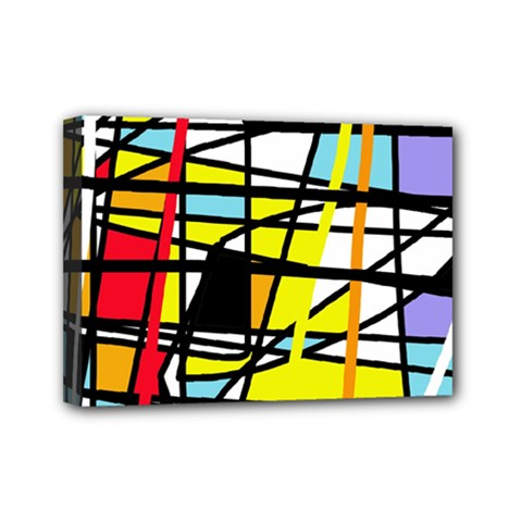 Casual Abstraction Mini Canvas 7  X 5