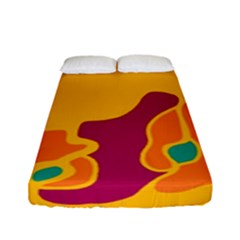 Colorful Creativity Fitted Sheet (full/ Double Size)