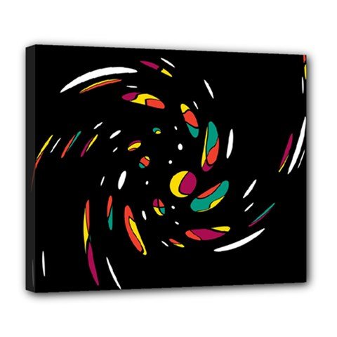 Colorful Twist Deluxe Canvas 24  X 20