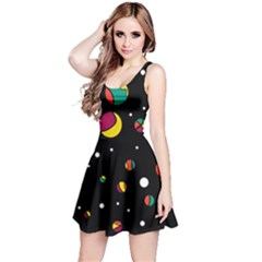 Colorful Dots Reversible Sleeveless Dress