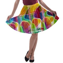 Abstract sunrise A-line Skater Skirt