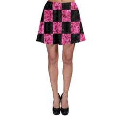 SQR1 BK-PK MARBLE Skater Skirt