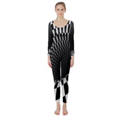 Optical Illusions Long Sleeve Catsuit