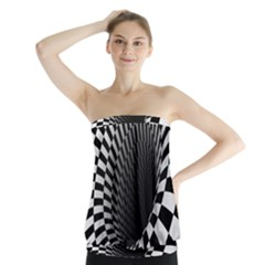 Optical Illusions Strapless Top